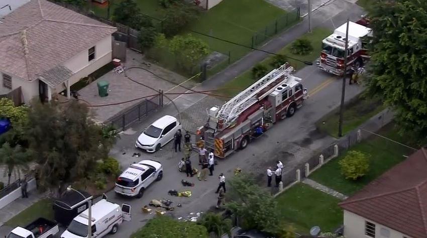 Tres niños mueren en un incendio en una vivienda en Miami