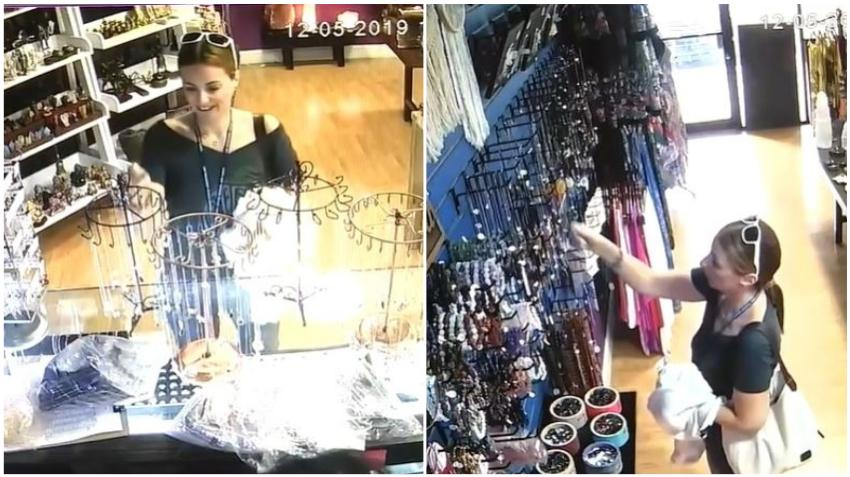 Policía de Miami busca a una mujer que quedó captada en cámara guardando artículos de una tienda en su bolso