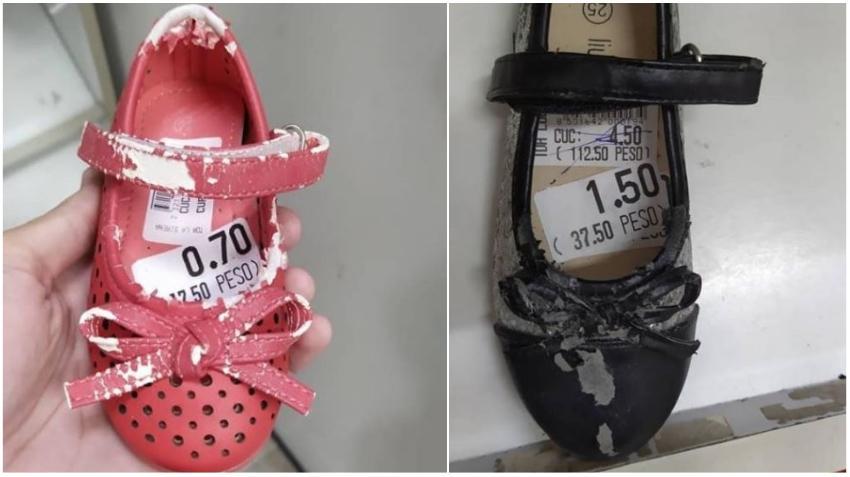 Cubano denuncia en las redes sociales venta de zapatos en pésimas condiciones en una tienda cubana