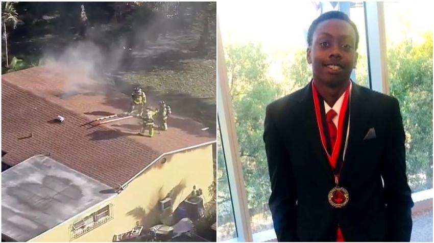 Adolescente de Miami es aclamado héroe luego de entrar a una  vivienda en llamas a rescatar a su familia
