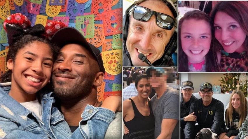 Identifican a las 9 personas que murieron en el accidente aéreo donde perdieron la vida Kobe Bryant y su hija