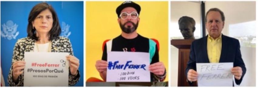 """Cubanos y políticos estadounidenses se suman a la campaña """"100 días 100 voces por la liberación de José Daniel Ferrer"""""""