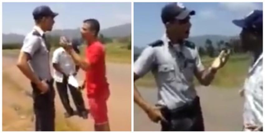 Policía amenaza a unos cuentapropistas a punta de pistola en Pinar del Río