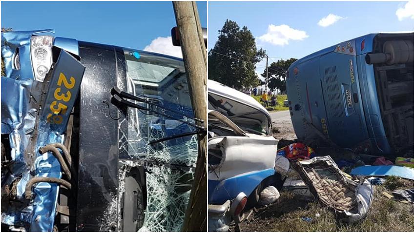 Aparatoso accidente masivo deja varios muertos y heridos en Camagüey, Cuba