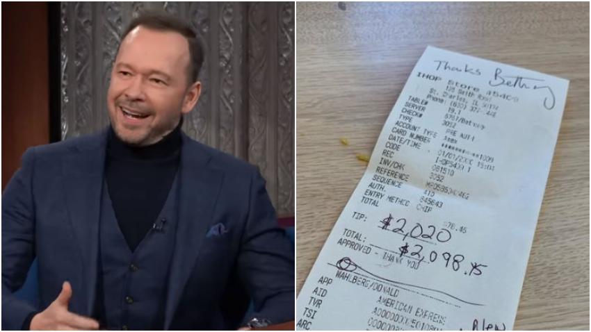 Actor estadounidense Donnie Wahlberg deja $2020 dólares de propina al mesero en un IHOP