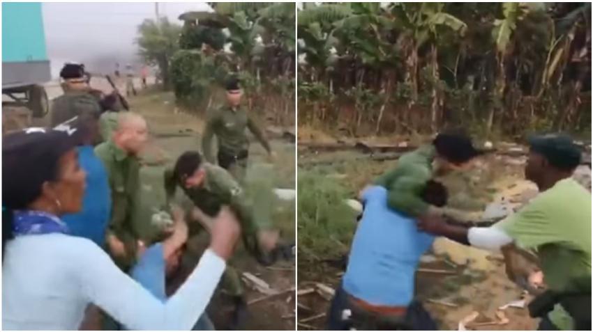 Policías en Cuba agreden a golpes a un grupo de cubanos en Villa Clara