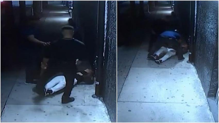 Cámaras captan agresión sobre un turista en Brickell al cual dos hombres dejaron casi inconsciente para robarle