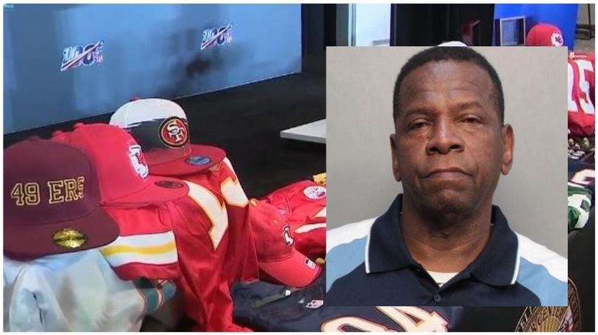 Policía de Miami arresta al propietario de una tienda por vender mercancía falsa de la NFL antes del Super Bowl
