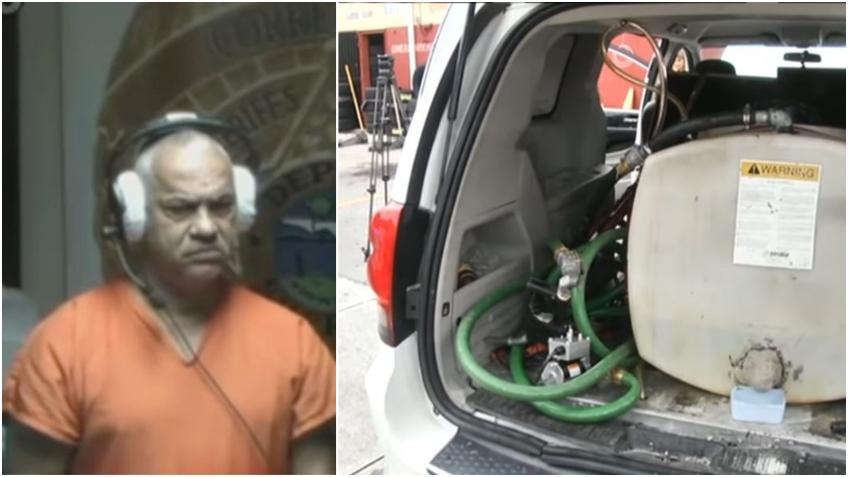 Se presentó en corte cubano arrestado en Hialeah por tener un tanque de gasolina ilegal en su vehículo y 25 tarjetas de crédito falsas en su bolsillo