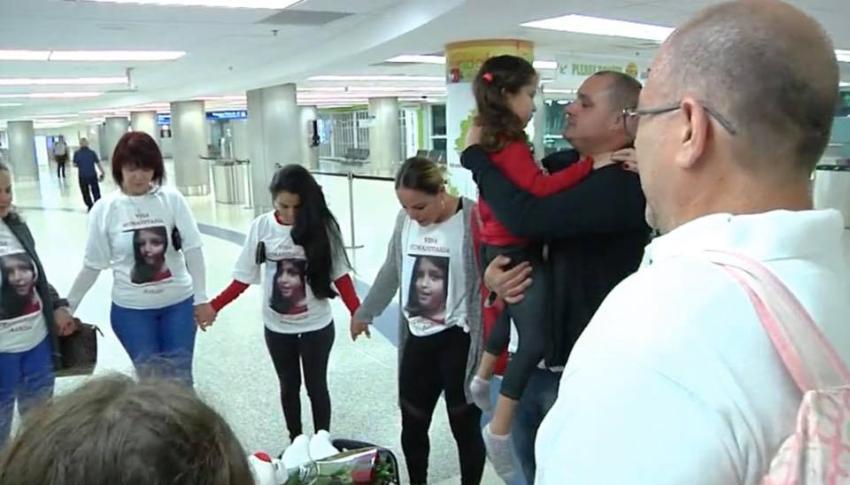 Llega a Miami con visa humanitaria la niña Ashlin para tratarse una rara enfermedad