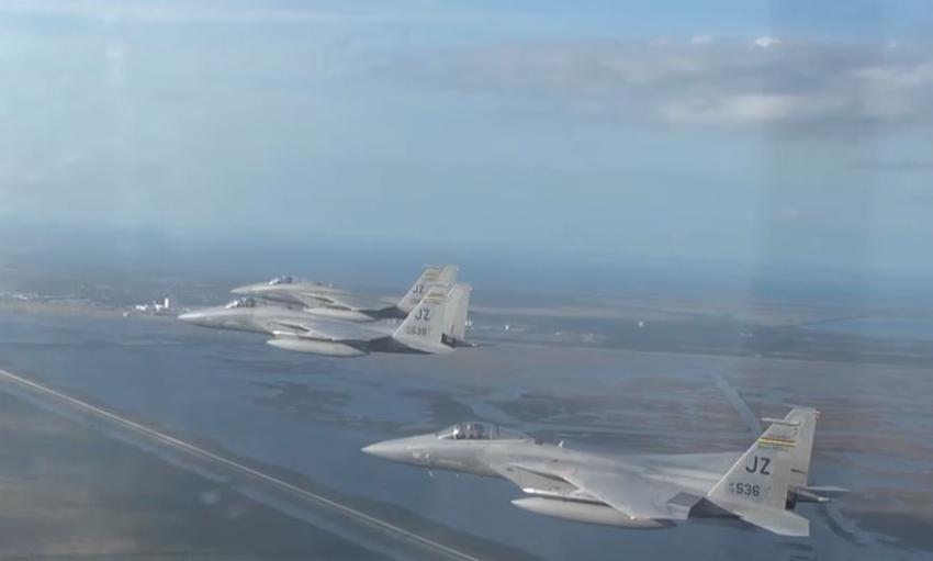 Aviones de combate F-15 se mantendrán volando para proteger el Sur de la Florida durante el Super Bowl en Miami