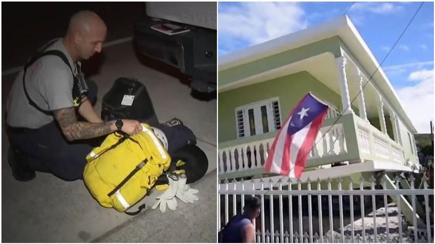 Bomberos de Miami viajan a Puerto Rico a asistir en los esfuerzos de rescate y recuperación tras los recientes terremotos