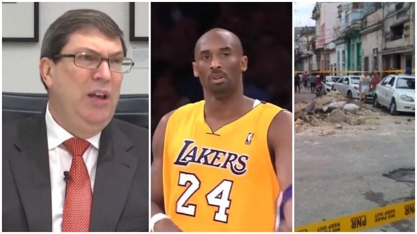Bruno Rodríguez ofrece condolencias por la muerte de Kobe Bryant pero se olvida de las tres niñas que murieron en un derrumbe en La Habana