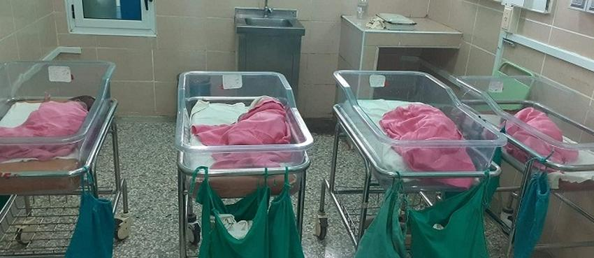 Cuatrillizos nacidos en Hospital Materno de Villa Clara evolucionan favorablemente