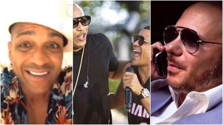 """Descemer Bueno aplaude a Pitbull y reta a los cubanos a meterse con el cantante cubanoamericano: """"Y ahora yo quiero ver quien va a tener un par para meterse contigo"""""""