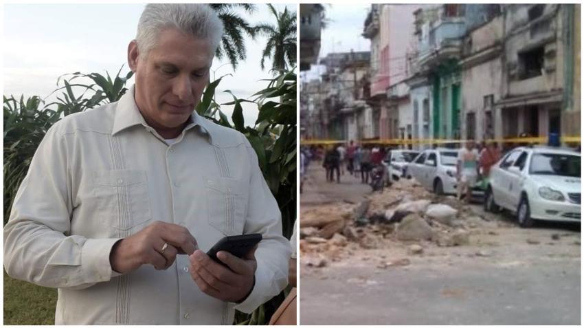 Cubanos critican a Canel tras sus tardías condolencias por las tres niñas que fallecieron en un derrumbe en La Habana
