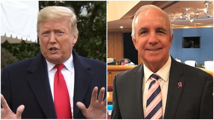 Presidente Donald Trump brinda su apoyo al alcalde de Miami-Dade Carlos Giménez en su candidatura al Congreso de Estados Unidos