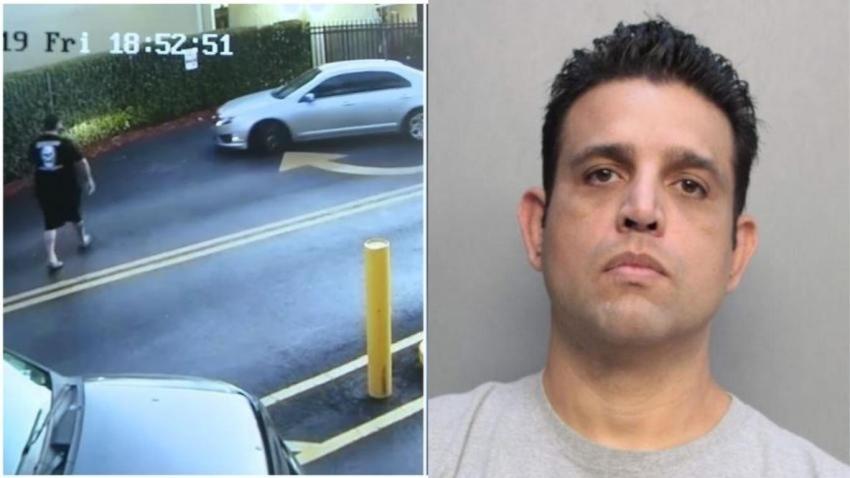 Arrestan al hombre que acorraló a una joven adolescente y rompió su carro luego de incidente de ira en la carretera en Miami