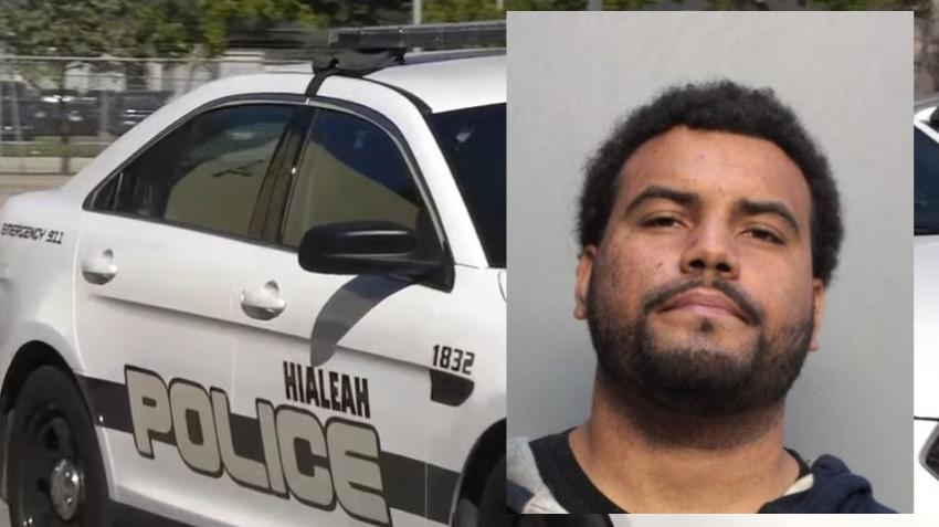 Hombre se tira de una patrulla para darse a la fuga luego de ser arrestado en Hialeah
