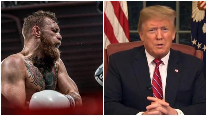 Peleador de UFC Conor McGregor le da su apoyo al presidente Donald Trump