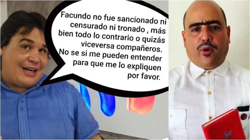 Meme de respuesta al director de Cubavisión por la justificación del despido de Andy Vazquez (Facundo)