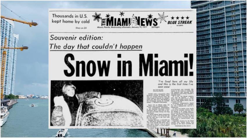 Hoy se cumplen 44 años de la primera vez que nevó en Miami