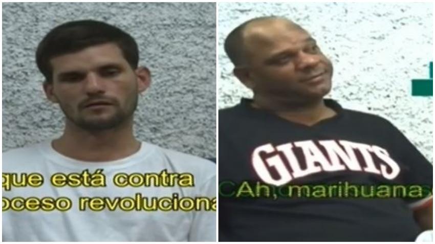 La televisión cubana pública declaración de los dos presuntos miembros de Clandestinos arrestados en Cuba y estos incriminan a activista cubana de Miami