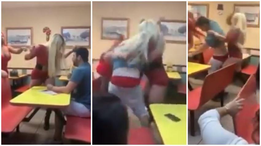 Dos cubanos se burlan de una pareja de transexuales en una pizzería de Miami y se llevan una dura lección