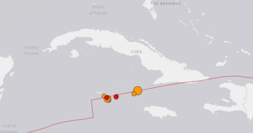 Varias réplicas del terremoto se han sentido en la misma zona entre Cuba e Islas Caimán