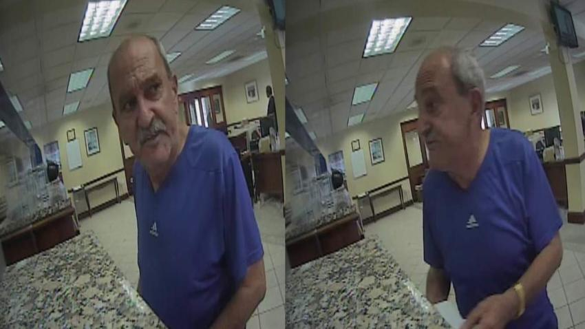 FBI busca a hombre que quedó captado en cámara robando en un banco de Miami