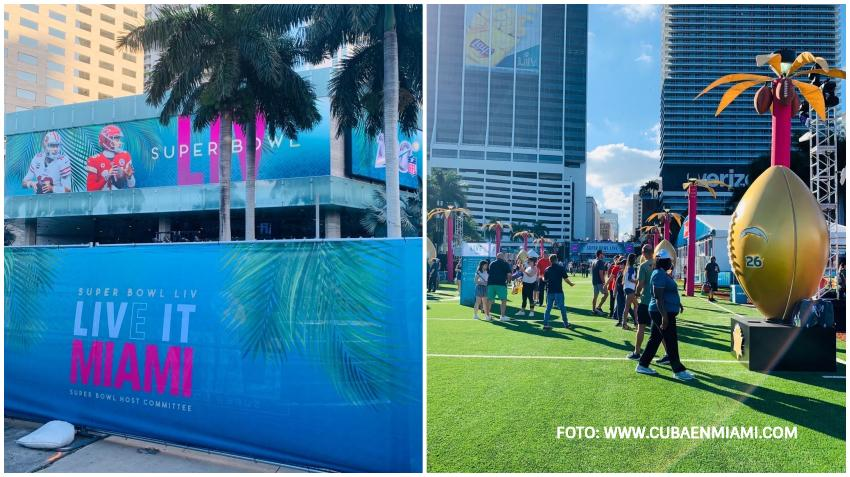 La fiesta del Super Bowl comienza en Miami tras abrir el Super Bowl LIVE Fan Fest en Bayfront Park