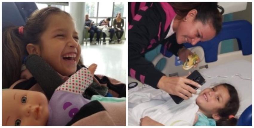 La niña cubana Ashlin ingresa al Nicklaus Children's Hospital de Miami para recibir tratamiento