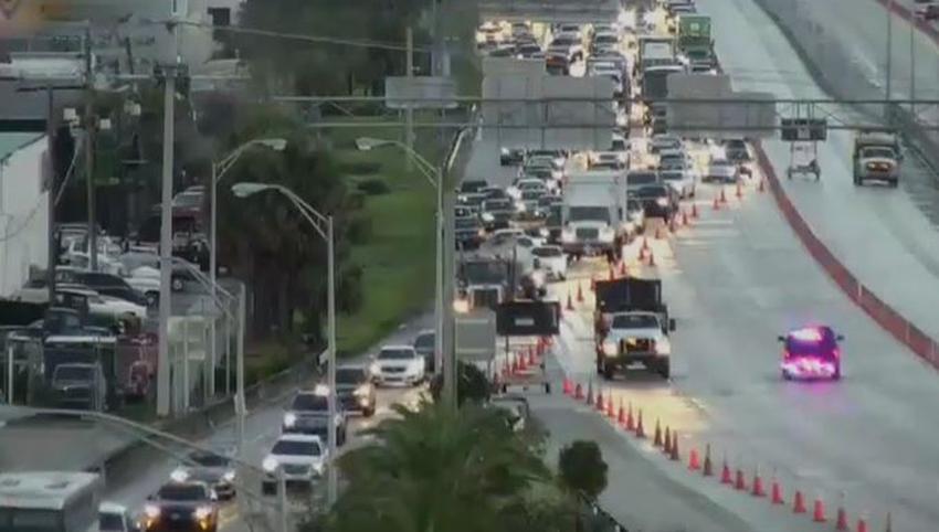 Un trabajador de la construcción muere atropellado en un accidente en la I-95