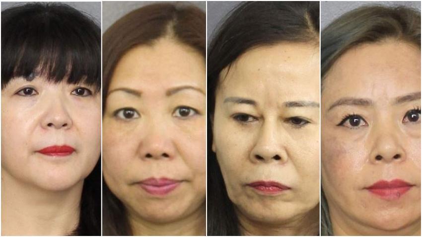 Policía encubierto reporta a cuatro mujeres de nacionalidad china que cobraban por favores sexuales en spas de masajes del sur de la Florida