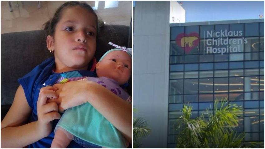 Niña cubana Ashlin recibirá atención médica en el Nicklaus Children's Hospital de Miami