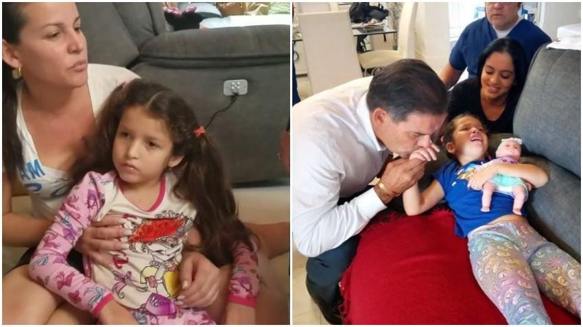 Niña cubana Ashlin se realiza los primeros análisis médicos tras su llegada a Miami