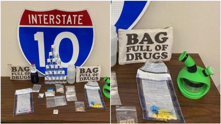 """Policías encuentran narcóticos en un carro dentro de una bolsa que decía """"Bolsa llena de drogas""""; dos hombres son arrestados"""