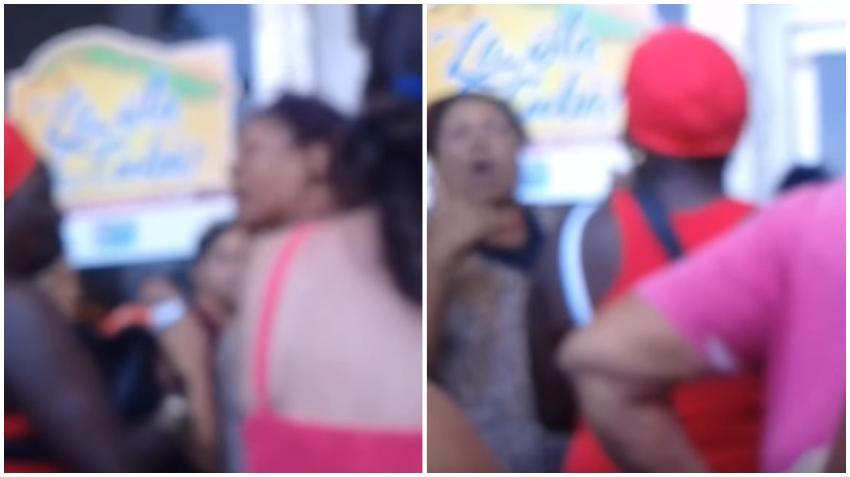 Malas palabras y chusmería en una cola en una tienda en La Habana Vieja para comprar jabón