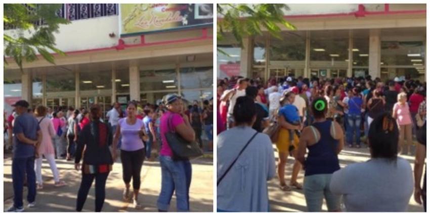 Cubanos hacen cola en Bayamo para ver si sacan pollo o detergente