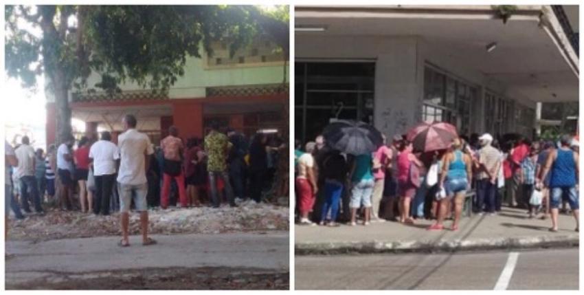 La coyuntura pica y se extiende: Colas a la orden del día en Cuba, pero la gran mayoría de la gente calla
