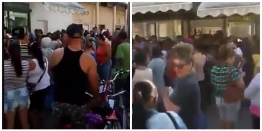 """Fuerte presencia policial en las colas en los mercados de Cuba, se teme """"un estallido social"""""""