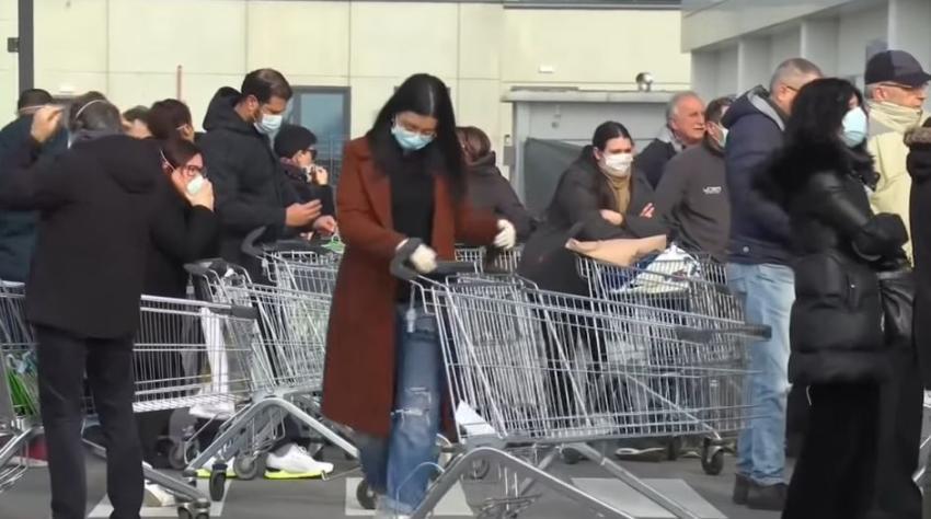 Se registra la quinta muerte en Italia por el coronavirus; y más de 200 infectados