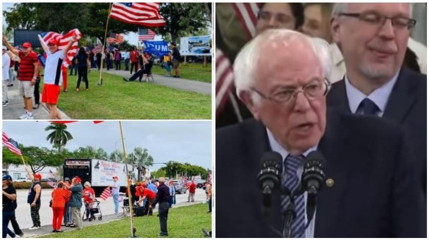 """Cubanos en Miami reaccionan los comentarios de Bernie Sanders sobre Fidel Castro: """"Ese señor esta mal de su mente"""""""