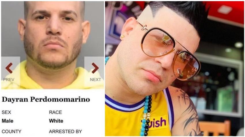 Reguetonero cubano Dayran Perdomo fue arrestado al llegar al aeropuerto de Miami por estar requerido por el condado Broward