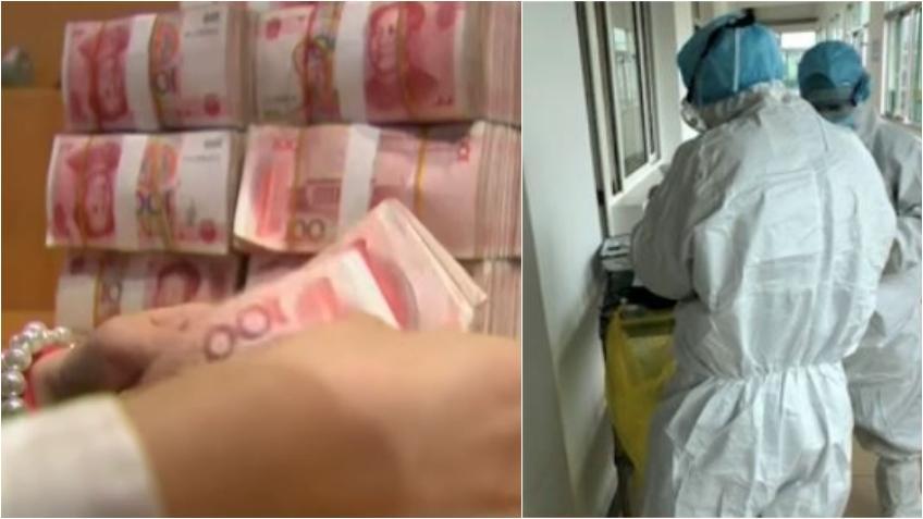 China comienza a desinfectar y a destruir billetes de moneda en efectivo para evitar la propagación del Coronavirus