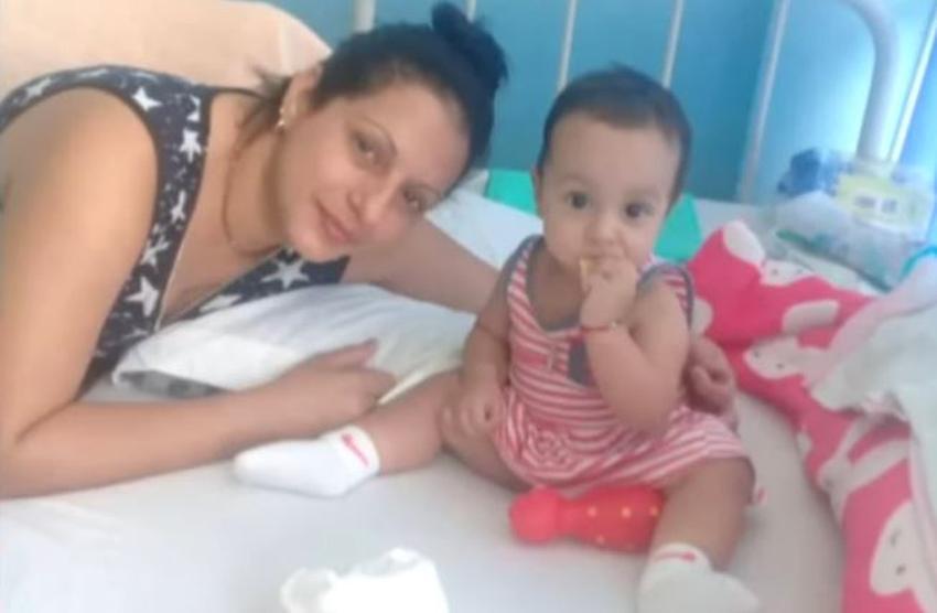 Madre cubana pide apoyo para una visa humanitaria para su niña de 1 año que sufre una extraña enfermedad renal
