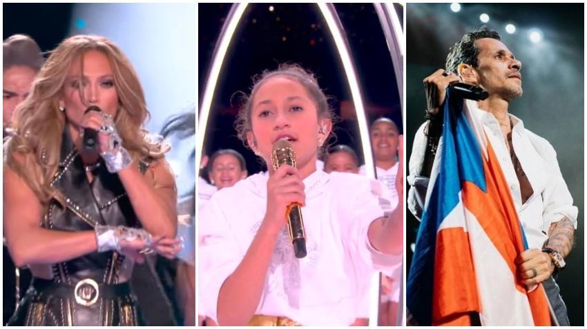 Hija de Jennifer López y Marc Anthony sorprende a todos con su voz en el medio tiempo del Super Bowl 2020