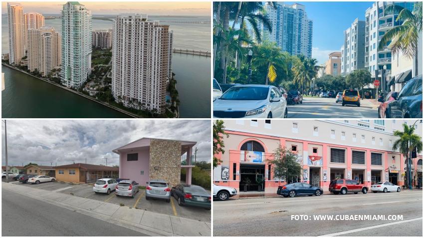 Ingreso medio de los hogares en cada ciudad de Miami-Dade