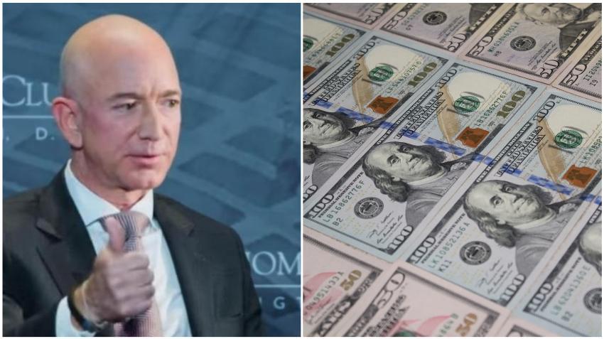 Jeff Bezos gana un récord de 13 mil millones dólares en un día,74 mil millones este año