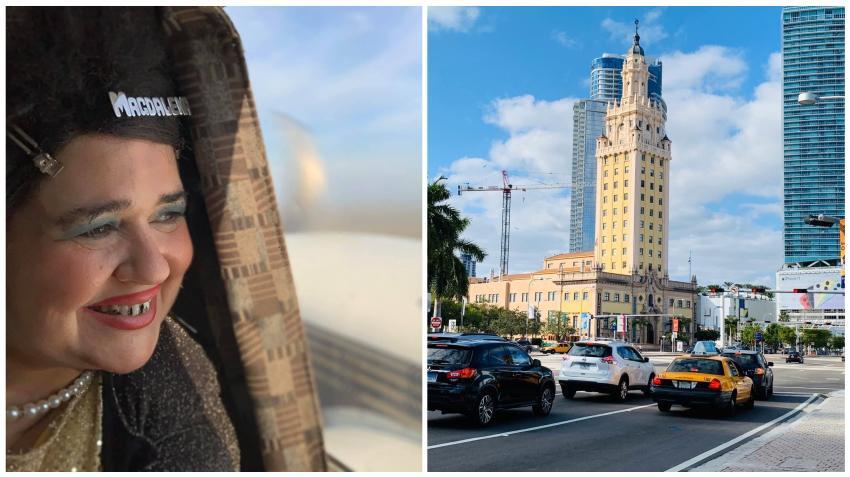 """Actriz cubana Judith González dedica hermosas palabras a la ciudad de Miami: """"Aquí los Cubanos llegan a querer tanto a Miami que quien no ha dicho ESTO ES CUBA PERO CON TO y Libertad"""""""